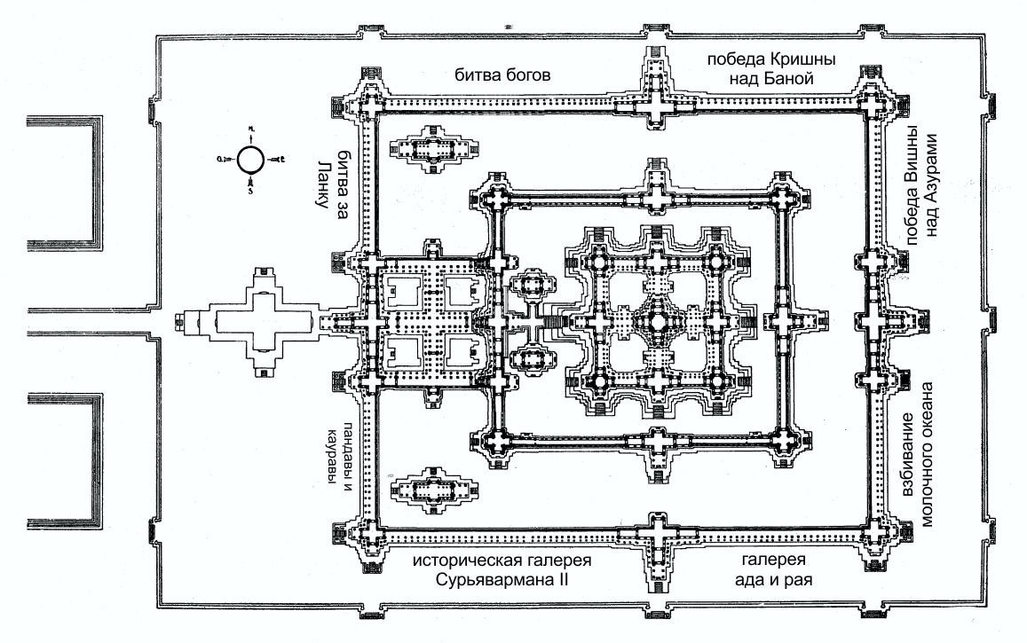 Схема расположения галерей в Анкор Вате