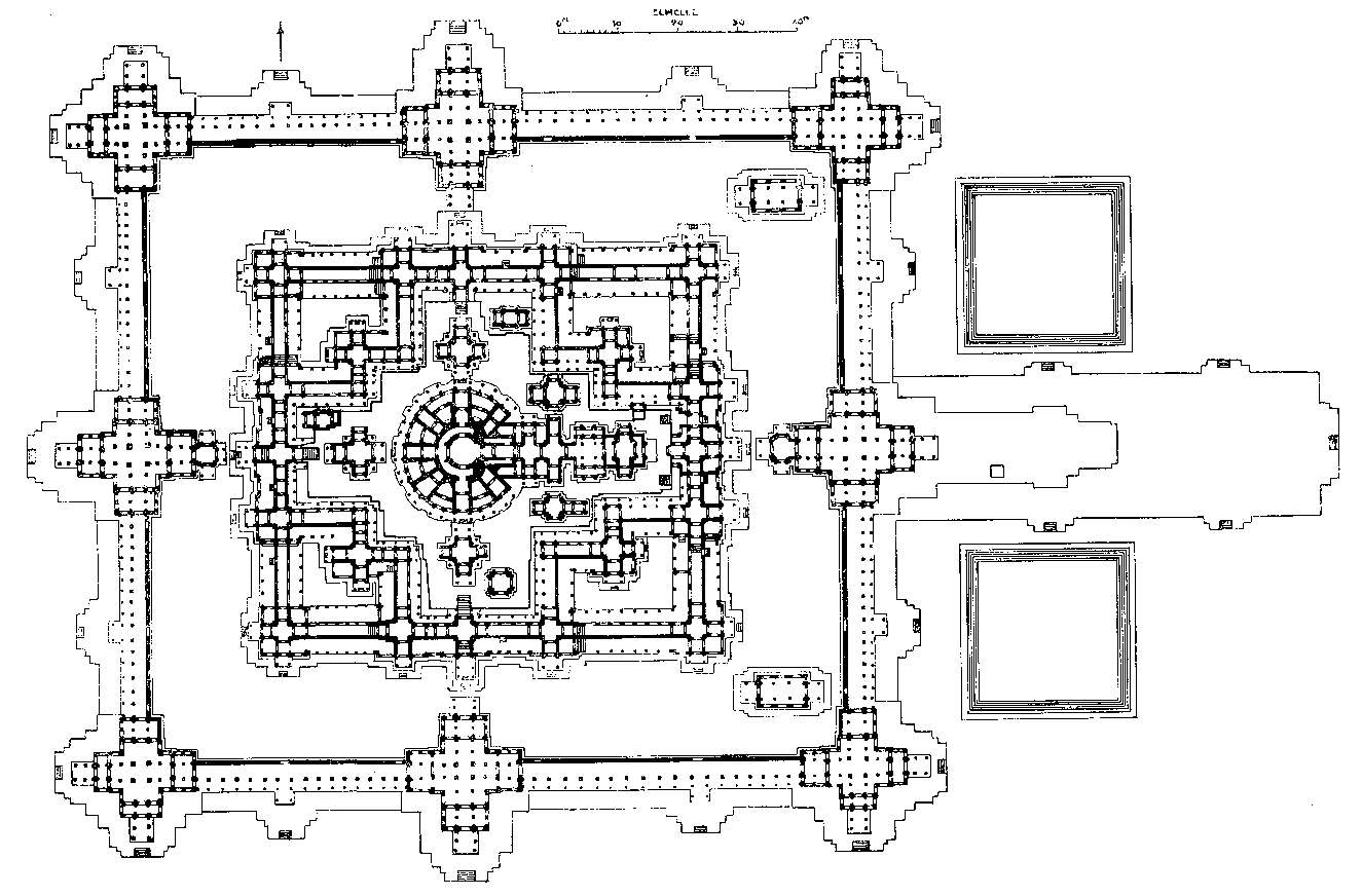 Схема храма в Анкоре