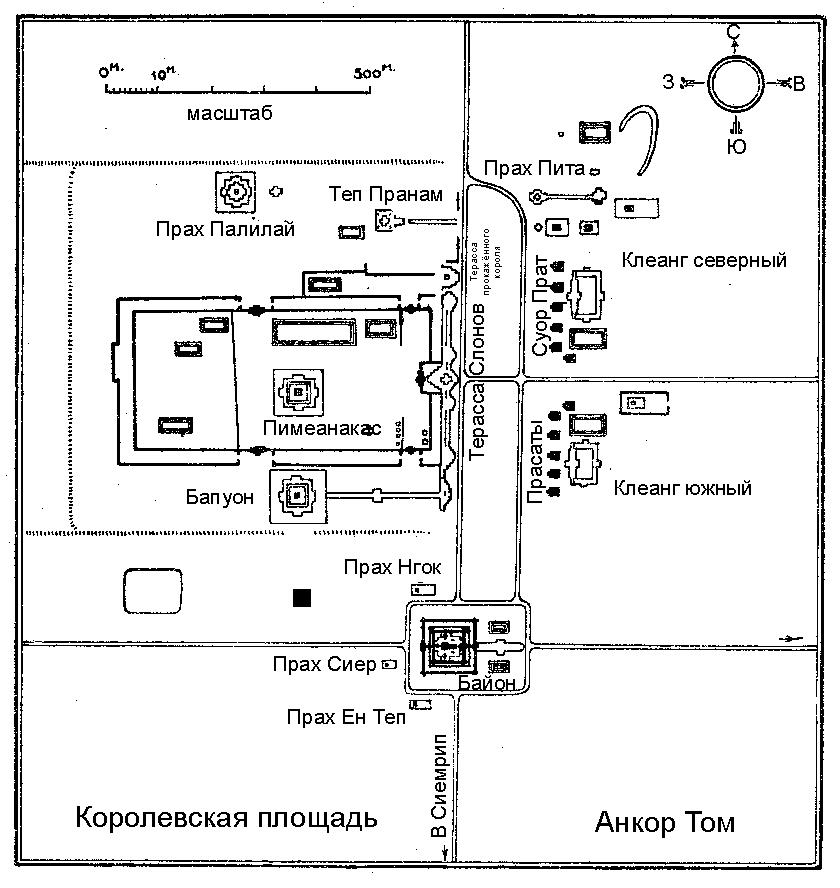 Расположение памятников на Королевской площади