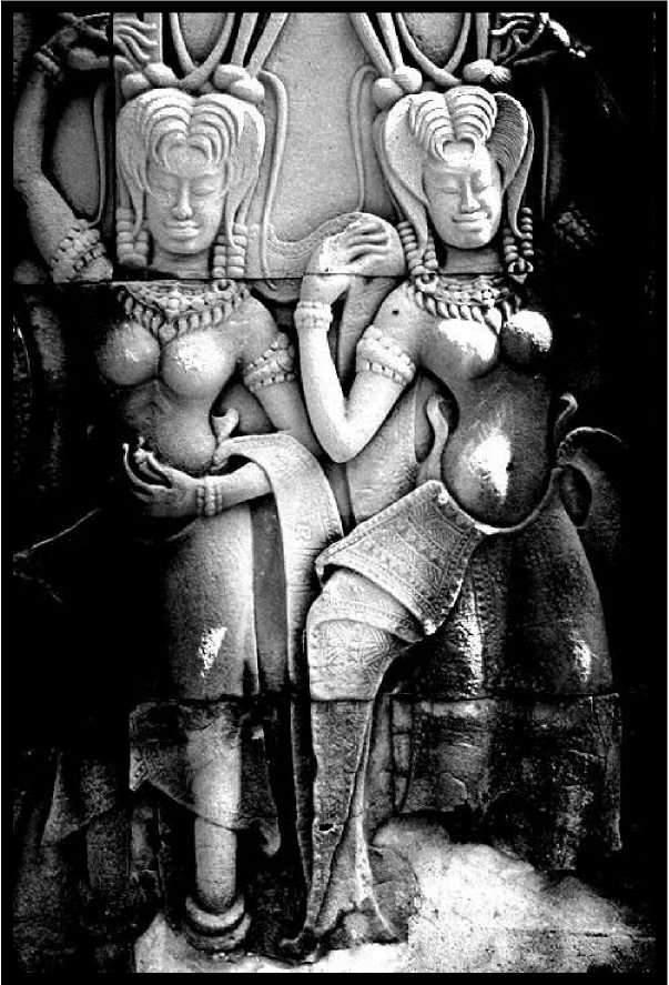 Скульптура Анкора. Апсары в танце