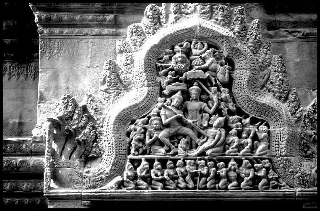 Барильеф Анкор Ват Камбоджа