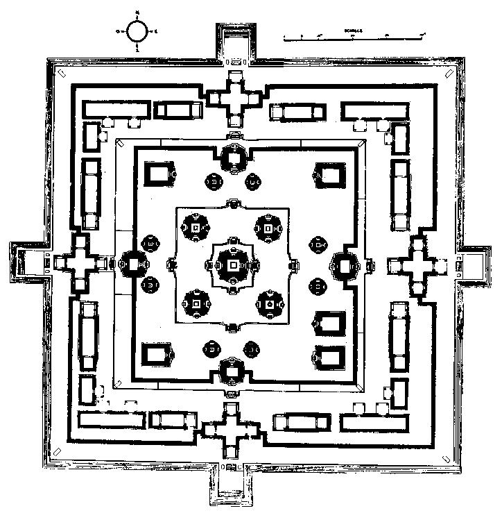 Восточный Мебон. План монумента