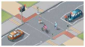"""Переход типа """"тукан"""" может использоваться совместно и пешеходами и велосипедистами"""