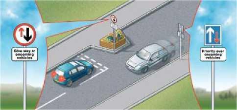 Для снижения скорости транспорта могут использоваться шиканы