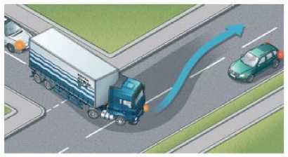 Большим транспортным средствам требуется дополнительное пространство