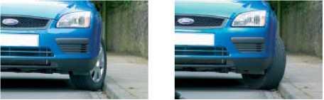 Правильная парковка на подъём и на спуске