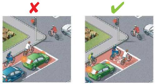 Не заезжайте без необходимости на площадку для велосипедистов