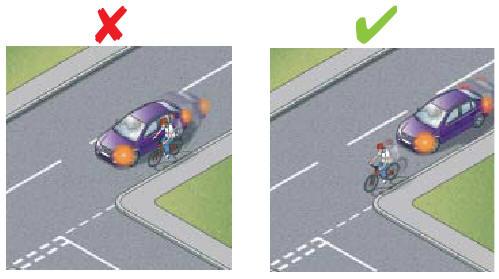 Не подрезайте велосипедиста