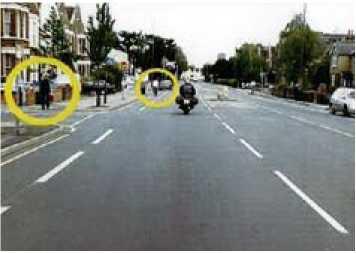 Картинка из правил дорожного движения в Великобритании