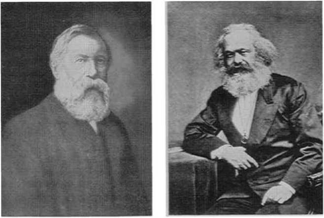 (Слева) Фридрих Энгельс (1820 - 1895) и (справа) Карл Маркс (1818 - 1883)