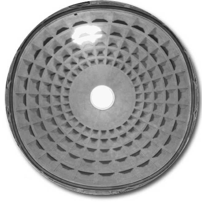 Внутренняя поверхность перекрытия купола