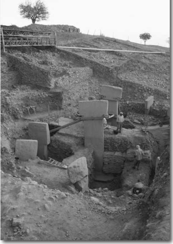 Место раскопок большого храмового комплекса в Гёбекли Тепе