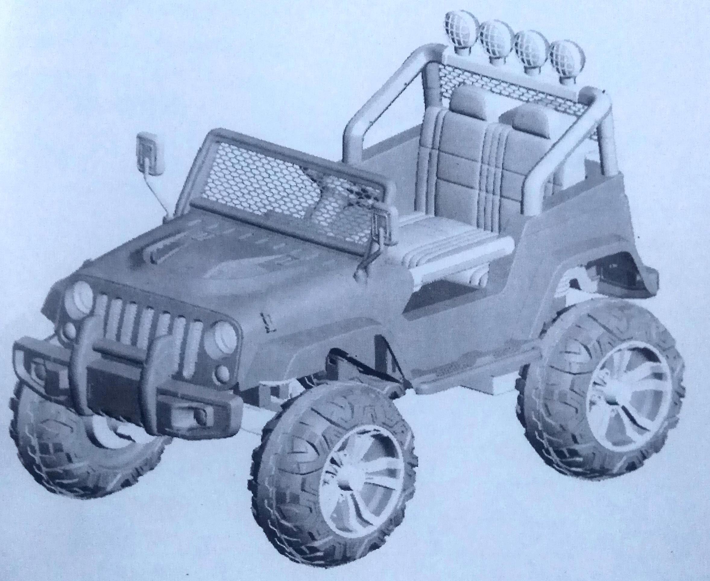 Инструкция по сборке детского электромобиля Джип Harleybella S2388-W на русском языке