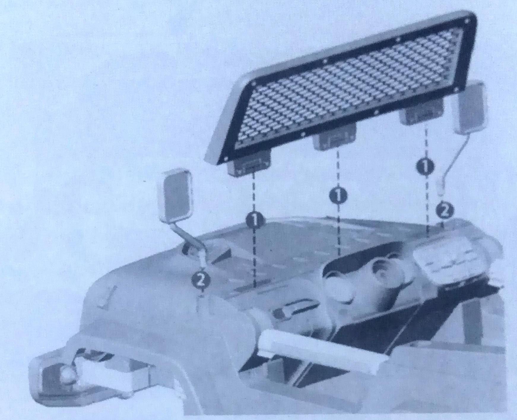Установка лобововика на детский автомобиль