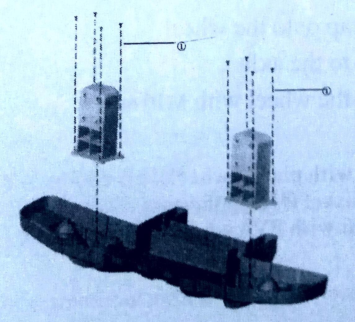 Установка соединителей переднего бампера