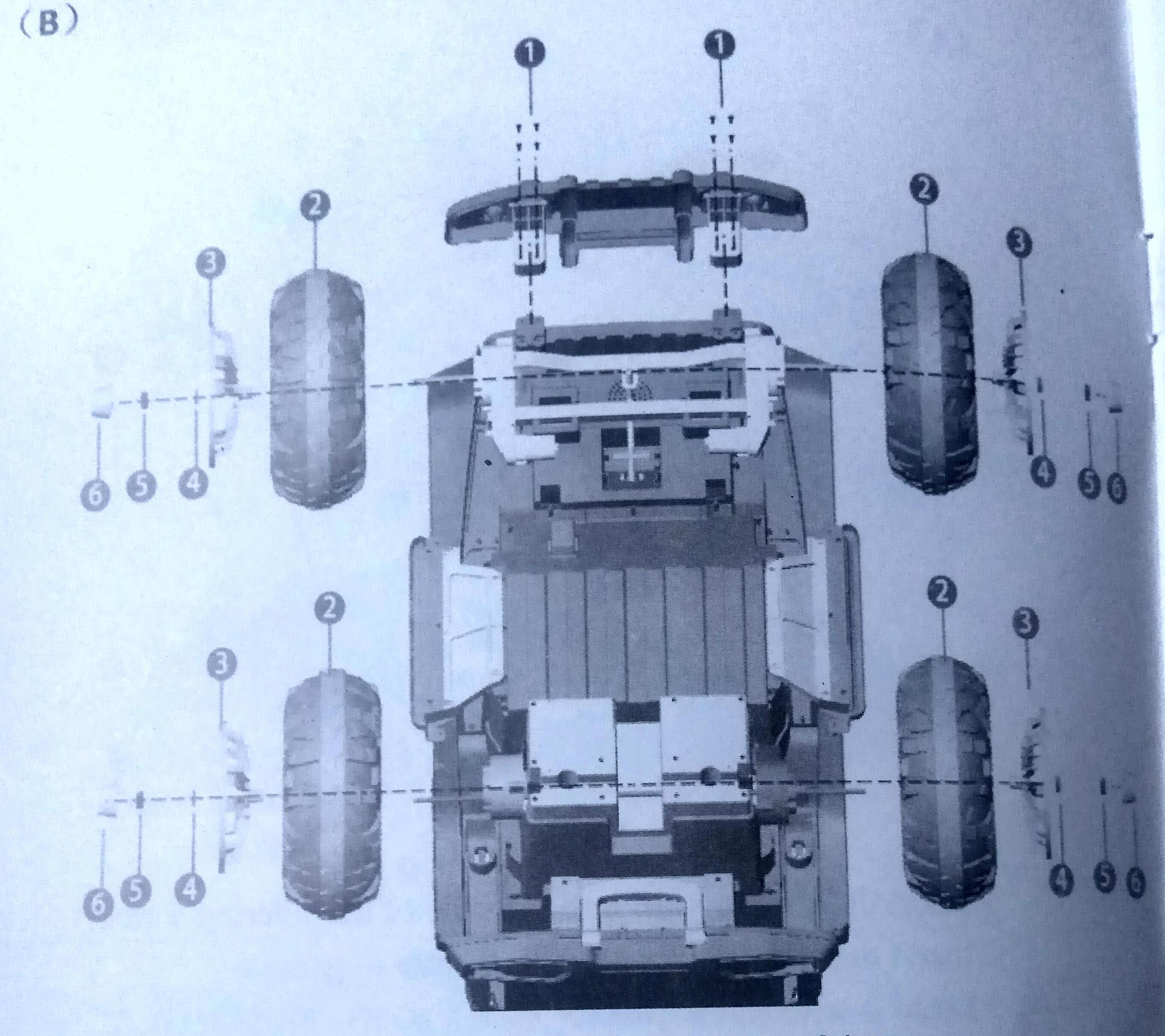 Схема соединения частей электроавтомобиля