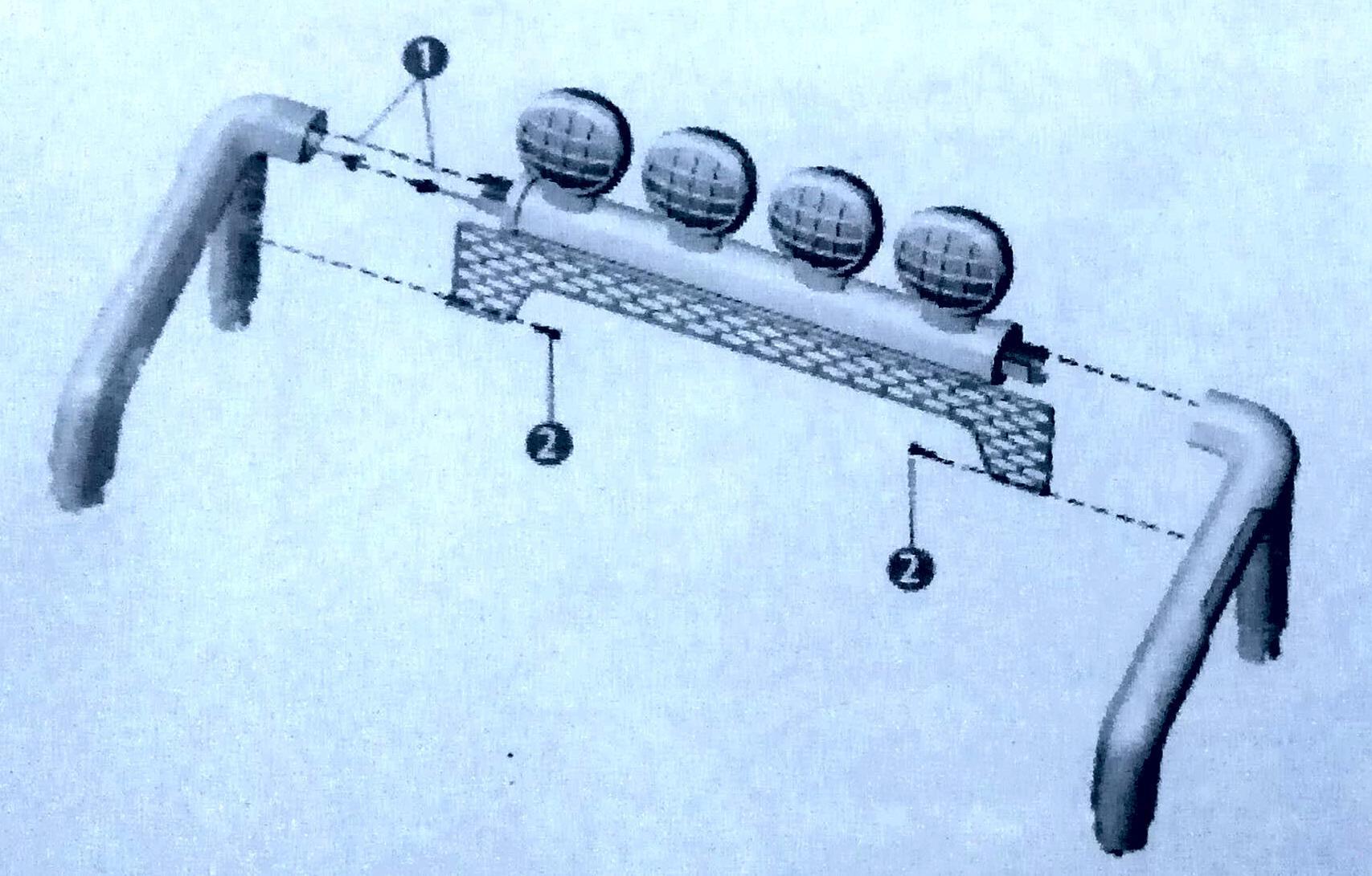 Установка прожекторов на джип S2388